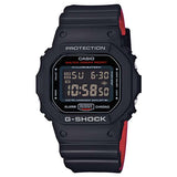 CASIO G-SHOCK BLACK & RED DIGITAL STOPWATCH TIMER DIGITAL RESIN WATCH DW-5600HR-1