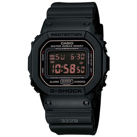 CASIO G-SHOCK MEN IN RUSTY BLACK WATCH DW-5600MS-1D