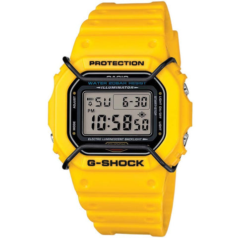 CASIO G-SHOCK SQUARE DESIGN YELLOW RESIN WATCH DW-5600P-9