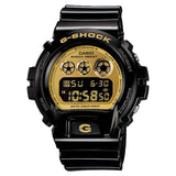 CASIO G-SHOCK BLACK PLASTIC GOLD DIAL WATCH DW-6900CB-1D