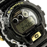 CASIO G-SHOCK BLACK CROCODILE TEXTURE RESIN WATCH DW-6900CR-1D