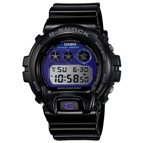 CASIO G-SHOCK GLOSS BLACK PURPLE DIAL WATCH DW-6900MF-1D