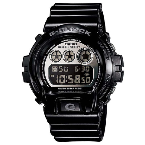 CASIO G-SHOCK BLACK METALLIC MIRROR WATCH DW-6900NB-1D