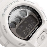 CASIO G-SHOCK WHITE RESIN BLACK DIAL WATCH DW-6900NB-7D