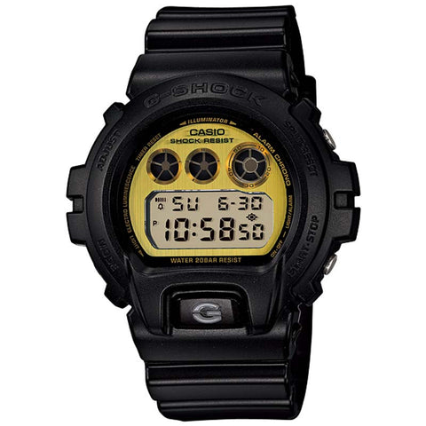 CASIO G-SHOCK BLACK RESIN METALLIC DIAL WATCH DW-6900PL-1D