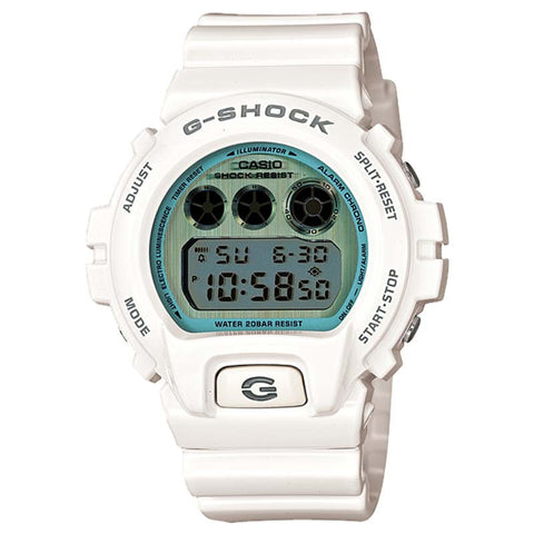 CASIO G-SHOCK WHITE RESIN METALLIC DIAL WATCH DW-6900PL-7D