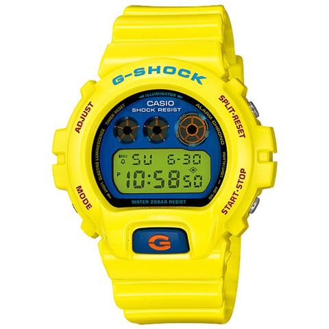 CASIO G-SHOCK YELLOW RESIN DIGITAL WATCH DW-6900PL-9D
