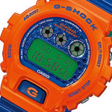 CASIO G-SHOCK ORANGE & BLUE RESIN WATCH DW-6900SC-4D