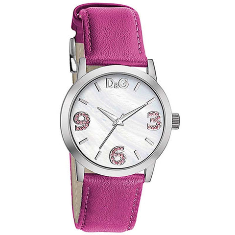 Dolce & Gabbana D&G Ladies Pose Leather Quartz Watch DW0693 - SALE