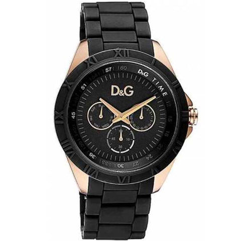 Dolce & Gabbana Chamonix Black Stainless Steel Quartz Watch DW0778 - SALE
