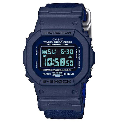 CASIO G-SHOCK UNISEX CASUAL MILITARY ARMY DIGITAL NYLON WATCH DW-5600LU-2D