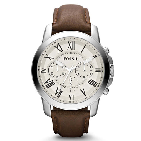 FOSSIL CHRONOGRAPH LEATHER WATCH FS4735