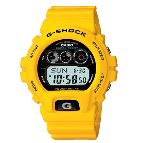 CASIO G-SHOCK TOUGH SOLAR YELLOW MEN DIGITAL WATCH G-6900A-9D