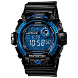CASIO G-SHOCK RESISTANT BLACK & BLUE RESIN DIGITAL WATCH G-8900A-1D