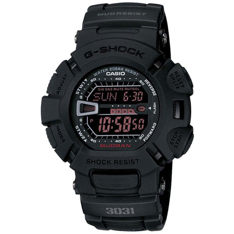 CASIO G-SHOCK MUDMAN SPORT ARMY BLACK DIGITAL WATCH G-9000MS-1D