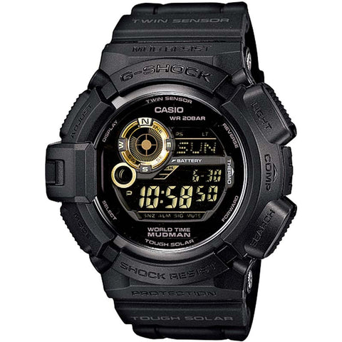 CASIO G-SHOCK MUDMAN TOUGH SOLAR GLOSSY BLACK WATCH G-9300GB-1D