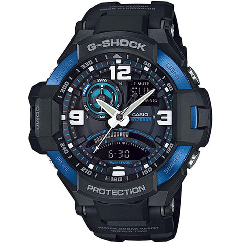 CASIO G-SHOCK SKY COCKPIT COMPASS THERMOMETER MEN'S WATCH GA-1000-2B