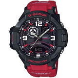CASIO G-SHOCK SKY COCKPIT COMPASS THERMOMETER RED WATCH GA-1000-4B