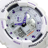 CASIO G-SHOCK CLASSIC SERIES X-LARGE ALARM WHITE WATCH GA-100A-7A