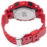 CASIO G-SHOCK X-LARGE RED WORLD TIME ANALOG DIGITAL WATCH GA-100B-4A