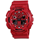 CASIO G-SHOCK BIG CASE DIGITAL ANALOGUE RED RESIN WATCH GA-100C-4A