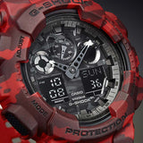 CASIO G-SHOCK GREY CAMOUFLAGE PATTERNS DIGITAL WATCH GA-100CM-8A