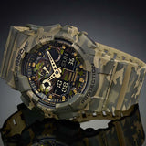 CASIO G-SHOCK GREEN CAMOUFLAGE PATTERNS DIGITAL WATCH GA-100CM-5A