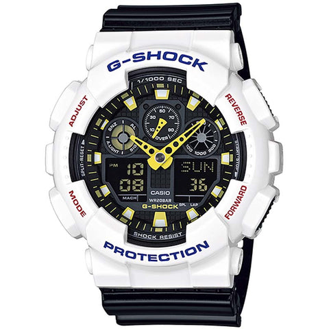 CASIO G-SHOCK CRAZY COLORS DIGITAL ANALOGUE WATCH GA-100CS-7A