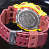 CASIO G-SHOCK CRAZY COLORS REDSKINS DIGITAL ANALOGUE WATCH GA-100CS-9A