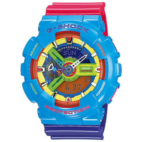 CASIO G-SHOCK MAN LIMITED EDITION RAINBOW COLORS WATCH GA-110F-2