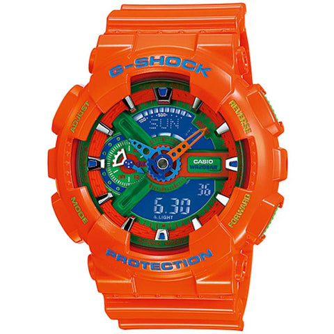 CASIO G-SHOCK X-LARGE G ORANGE DIGITAL ANALOGUE WATCH GA-110A-4D