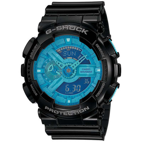 CASIO G-SHOCK X-LARGE G BLUE DIAL 200M DIGITAL WATCH GA-110B-1A2