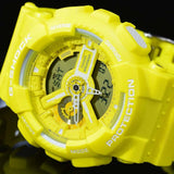 CASIO G-SHOCK 2014 BIG-CASE MEN'S YELLOW STRAP WATCH GA-110BC-9A