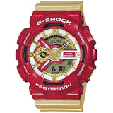 CASIO G-SHOCK IRONMAN GOLD & RED DIGITAL ANALOGUE WATCH GA-110CS-4AJF