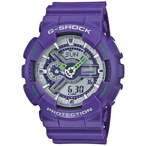 CASIO G-SHOCK HYPER COLOR PURPLE SERIES DIGITAL WATCH GA-110DN-6A