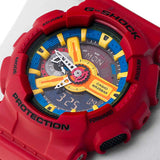 CASIO G-SHOCK X-LARGE SERIES CRAZY RED RESIN DIGITAL WATCH GA-110FC-1A
