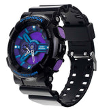 G-SHOCK X-LARGE HYPER BLUE FACE GLOSS BLACK RESIN WATCH GA-110HC-1A