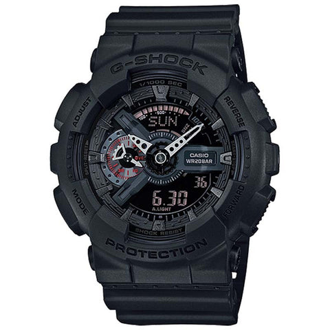 CASIO G-SHOCK MILITARY BLACK SERIES RESIN DIGITAL WATCH GA-110MB-1A
