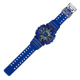 CASIO G-SHOCK METALLIC BLUE ANALOG DIGITAL WATCH GA-110NM-2A