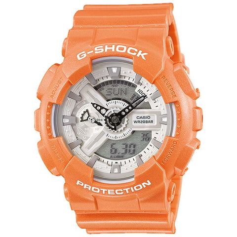 CASIO G-SHOCK X-LARGE PALE COLOR ORANGE RESIN WATCH GA-110SG-4A