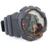 CASIO G-SHOCK DARK GREY & ORANGE DIGITAL ANALOGUE WATCH GA-110TS-1A4