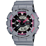 CASIO G-SHOCK COLD GREY & PINK DIGITAL ANALOGUE WATCH GA-110TS-8A4