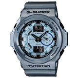 CASIO G-SHOCK ANALOG DIGITAL METALLIC BLUE RESIN WATCH GA-150A-2