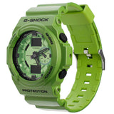 CASIO G-SHOCK ANALOG DIGITAL METALLIC GREEN RESIN WATCH GA-150A-3