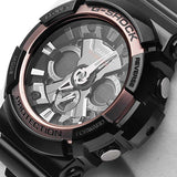 CASIO G-SHOCK ANALOG DIGITAL BLACK ROSE GOLD WATCH GA-200RG-1A