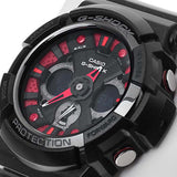 CASIO G-SHOCK ANALOG DIGITAL BLACK RESIN MENS WATCH GA-200SH-1A