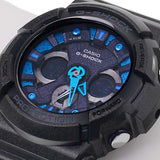 CASIO G-SHOCK ANALOG DIGITAL GLOSS BLACK RESIN WATCH GA-200SH-2A