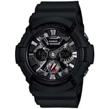 CASIO G-SHOCK ANALOG DIGITAL XL BLACK METAL DIGITAL MENS WATCH GA-201-1A