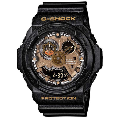 CASIO G-SHOCK METALLIC SHADOW BLACK RESIN LARGE WATCH GA-300A-1A