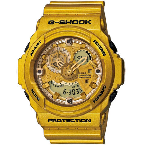 CASIO G-SHOCK 200M CRAZY GOLD COLOR DIGITAL WATCH GA-300GD-9